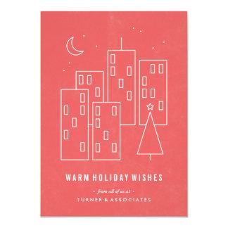 """Navidad en la tarjeta del día de fiesta de la invitación 5"""" x 7"""""""