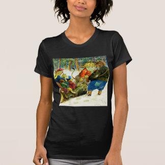 Navidad en la tierra animal - el registro de Yule Camiseta