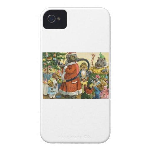 Navidad en la tierra animal iPhone 4 Case-Mate funda