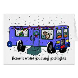 Navidad en las tarjetas del camino