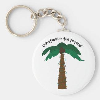 ¡Navidad en las zonas tropicales! Llavero Personalizado