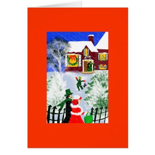 navidad en los abuelos tarjeta de felicitación