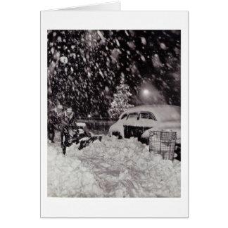 Navidad en los años 50 del vintage de New York Tarjeta De Felicitación