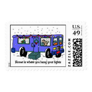 Navidad en los sellos del camino