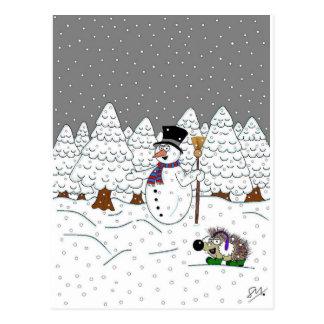 Navidad en madera mágica del árbol postal