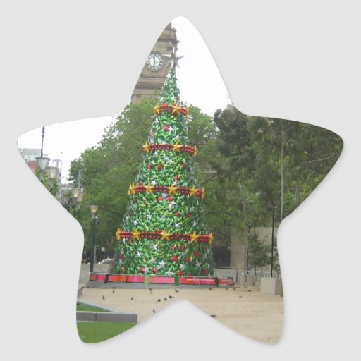 Navidad en Melbourne Pegatina En Forma De Estrella