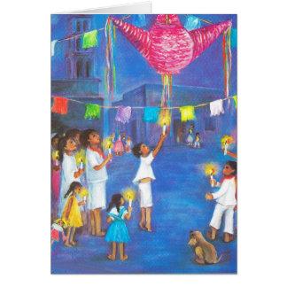 Navidad en México, velas, fuegos artificiales, Tarjeta De Felicitación