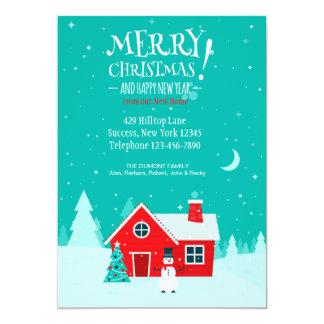 """Navidad en nuestra nueva tarjeta casera del día de invitación 5"""" x 7"""""""