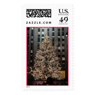 Navidad en NYC - árbol de centro de Rockefeller Franqueo
