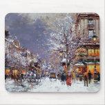 Navidad en París. Regalo Mousepad del navidad