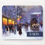 Navidad en París. Regalo Mousepad del navidad Alfombrillas De Raton