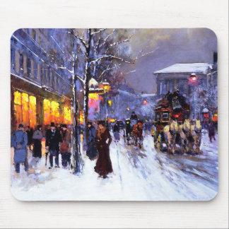 Navidad en París Regalo Mousepad del navidad Tapetes De Raton