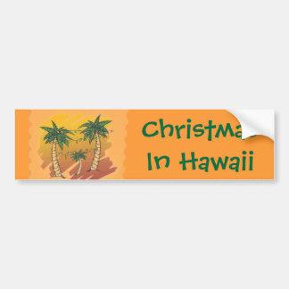 Navidad en pegatina para el parachoques tropical d pegatina para auto