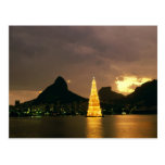 Navidad en Río de Janeiro el Brasil Tarjeta Postal