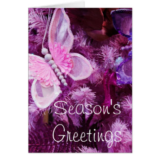Navidad en rosa y púrpura felicitaciones