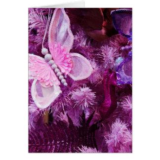 Navidad en rosa y púrpura tarjetas