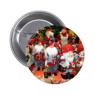 Navidad en Suecia Pin Redondo De 2 Pulgadas