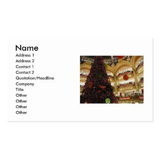 Navidad en tarjeta de visita de París