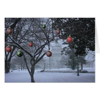 Navidad en tarjeta del personalizable de Capitol