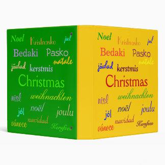 """Navidad en todo el mundo en oro y verde carpeta 1"""""""