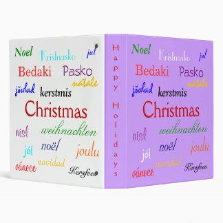 """Navidad en todo el mundo en púrpura y el blanco II Carpeta 1"""""""