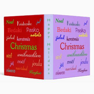 """Navidad en todo el mundo en púrpura y el rojo III Carpeta 1"""""""