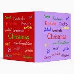 Navidad en todo el mundo en púrpura y rojo