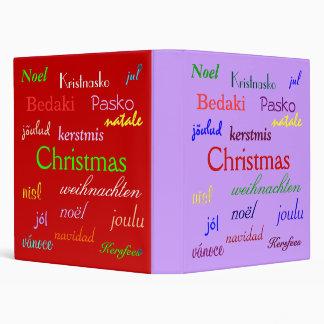 """Navidad en todo el mundo en púrpura y rojo carpeta 1"""""""