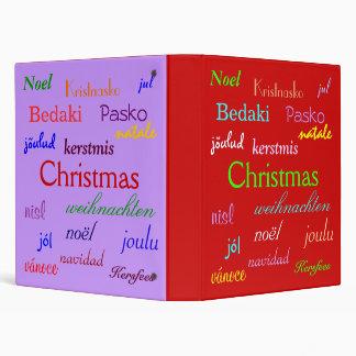 """Navidad en todo el mundo en rojo y púrpura carpeta 1"""""""