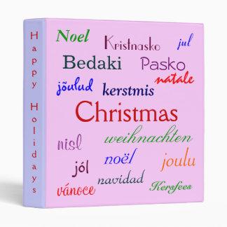 """Navidad en todo el mundo en rosado y la púrpura II Carpeta 1"""""""