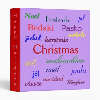 """Navidad en todo el mundo en V púrpura y rojo Carpeta 1"""""""