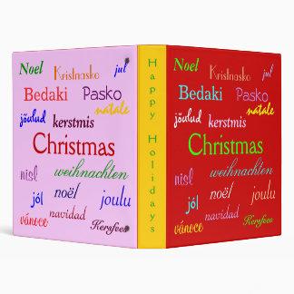 """Navidad en todo el mundo en V rojo y rosado Carpeta 1"""""""