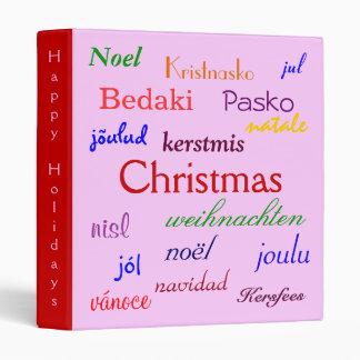"""Navidad en todo el mundo en V rosado Carpeta 1"""""""