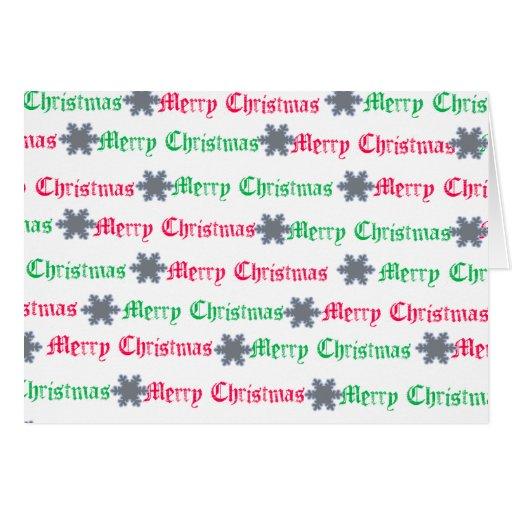 navidad en verde y rojo tarjeta pequeña