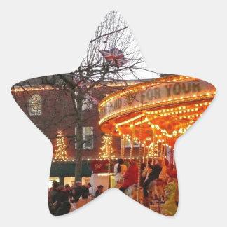 Navidad en York Pegatinas Forma De Estrella