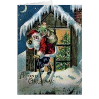 Navidad encariñado felicitación