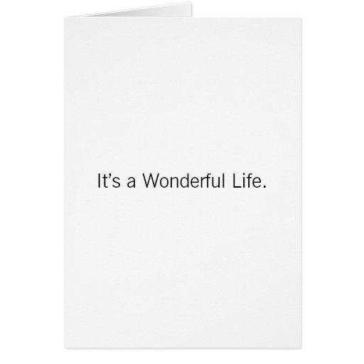 Navidad - es una vida maravillosa tarjeta de felicitación