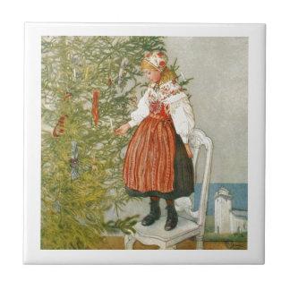 Navidad escandinavo azulejo cuadrado pequeño