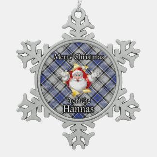 Navidad escocés del tartán de Hannay Hanna del Adorno De Peltre En Forma De Copo De Nieve