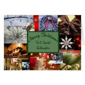 Navidad especial de la ahijada tarjeton