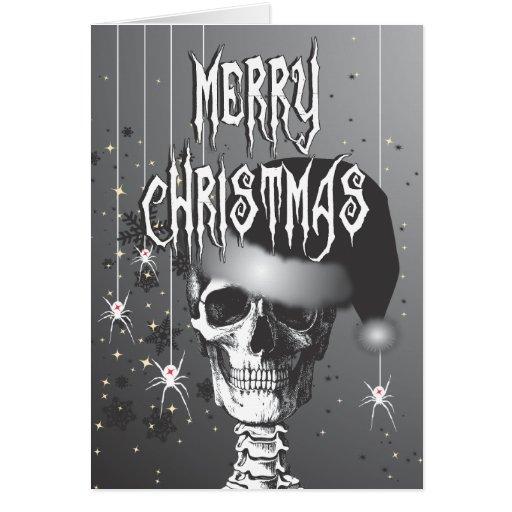 Navidad espeluznante tarjeta de felicitación