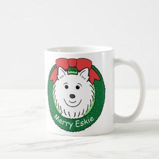 Navidad esquimal americano taza básica blanca