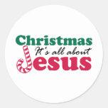 Navidad - está todo sobre Jesús Etiqueta Redonda
