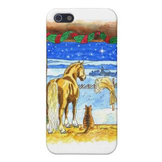 Navidad estable iPhone 5 funda