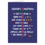 Navidad Estación-Divertido de las Felices Navidad  Tarjeta