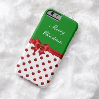 Navidad estacional funda de iPhone 6 barely there
