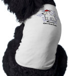 Navidad estándar/corte del perrito del caniche de playera sin mangas para perro