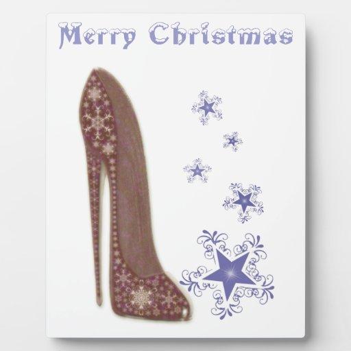 Navidad estilete y regalos de los copos de nieve placas de plastico