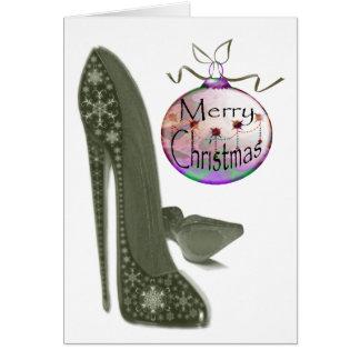 Navidad estilete y regalos del arte de la tarjeta de felicitación