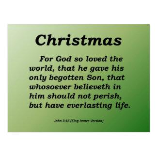 Navidad eterno Juan de la vida 3-16 Tarjeta Postal
